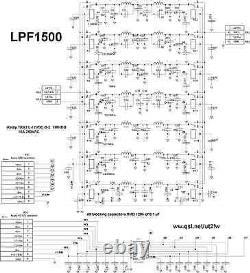 1.5kW 1.5-54MHz LPF low-pass filter LDMOS BLF188 MOSFET VRF2933 SD2933 MRF150