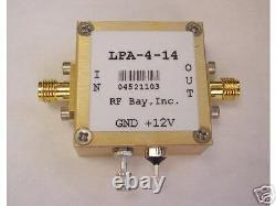 10-4000MHz Low Power Amplifier, LPA-4-14, New, SMA