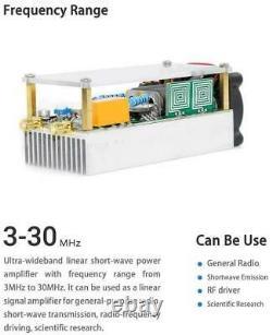 100w 330Mhz Shortwave Power Amplifier HF Amplifier RF for QRP FT817 KX3 withCase