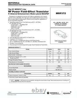 150 Watt UHF amplifier pallet. 470-860MHz. Requires 32V power and Heatsink