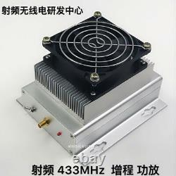 433MHZ 400-470MHZ UHF 40W UHF RF Radio Power Amplifier AMP DMR + heatsink + Fan