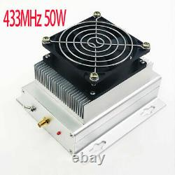 433MHZ 400-470MHZ UHF 50W UHF RF Radio Power Amplifier AMP DMR + heatsink + Fan