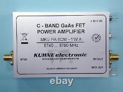 6cm Power Amplifier 1 W 5740-5780 MHz, MKU PA 6CM-1W A, DB6NT