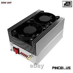 80W UHF 400MHZ-470MHZ RF Power Amplifier Amp For Two Way Radios Walkie Talkie
