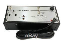 Antenna Signal Amplifier Heavy Duty (36dB) 54Mhz-812Mhz Powered
