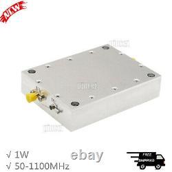 DTMB Digital TV RF Linear Amplifier RF Power Amplifier 50-1100MHz 1W with Heatsink