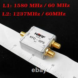 Duplex filter for GPS L1, L2 band signal separation 1 dB 1580 MHz /1237MHz