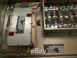 MILCOM INT. 1mw -120+WATTS, 500-1000 MHz RF POWR AMP withMOTOROLA S-1350 250W METER