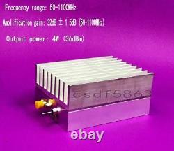 NEW 50-1100MHz 4W 36dBmTV High Linearity RF Power DTMB Digital Amplifier