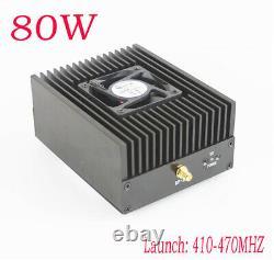 NEW 80W DMR DPM RP25 C4FM UHF 410-470MHZ Ham Radio Power amplifier Interphone