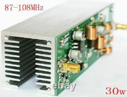 New 30W RF Power Amplifier FM Amplifier/FM Radio Module 87-108MHz + Antenna