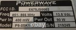 POWERWAVE TECHNOLOGIES MILCOM P9-05K1C1 800 Mhz POWER AMPLIFIER P9-05K1C1
