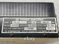 TPL RF Power Amplifier Model PA6-1AC FREQ 400-512 MHZ / 25-50W