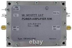 UHF power amplifier 10W gain 40dB (470-800MHz)