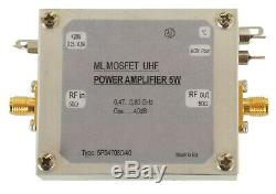UHF power amplifier 5With40dB, power amplifier 470-800MHz 5With40dB