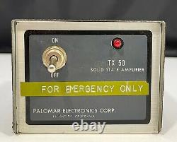 Vintage Palomar TX-50 Broadband 3-30 Mhz Solid State Linear Amplifier -Powers Up