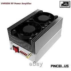 XDT-UVPA70 VHF80W Walkie Talkie Amplifier 136MHz-174MHz Relay Station Amp